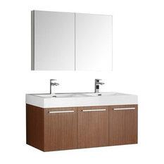 Fine Clearance Vista 48 Teak Modern Bathroom Vanity With Medicine Interior Design Ideas Gentotryabchikinfo