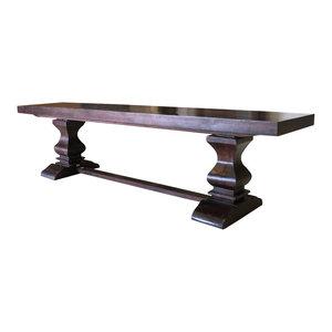 "Brea Pedestal Dining Bench, 80"""