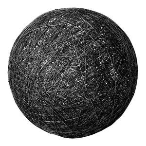 Sphere Globe Floor Lamp, Black, Small