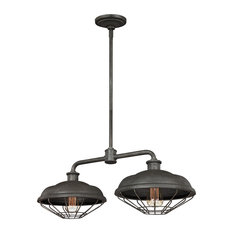Murray Feiss Lennex Two Light Island Chandelier F3156/2SGM