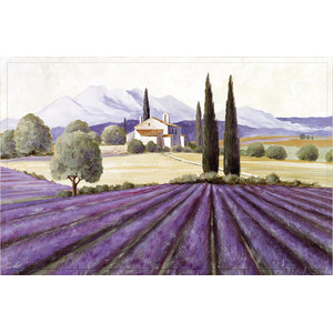 Provence Lavender Gallery Door Mat, Small