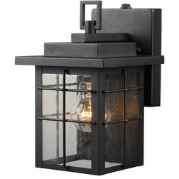 Transitional Outdoor Wall Lights And Sconces by Door Corner