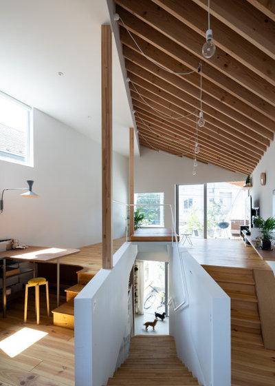 モダン 階段 by 一級建築士事務所 ikmo