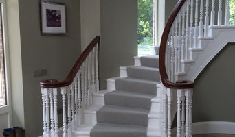 Curving Walnut Stair