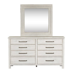 Liberty Furniture Modern Farmhouse White Dresser And Mirror