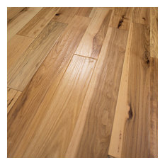 "5""x1/2"" Hickory Hand Scraped Prefinished Engineered Wood Flooring, 1 Box"