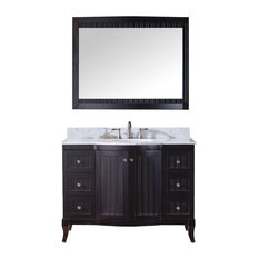 "Khaleesi 48"" Single Bathroom Vanity Cabinet Set, Espresso"