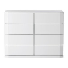 Manhattan New High-Gloss Chest of Drawers