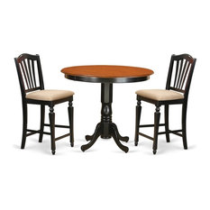 3-Piece Counter Height Pub Set High Top Table And 2 Counter Height Stool