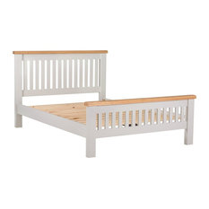 Padstow Grey Painted Oak Bed Frame, King
