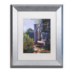 "David Lloyd Glover 'Climbing Roses' Art, Silver Frame, 11""x14"", White Matte"