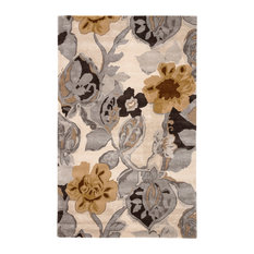 Jaipur Living Petal Pusher Handmade Floral Multicolor/White Area Rug, 5'x8'