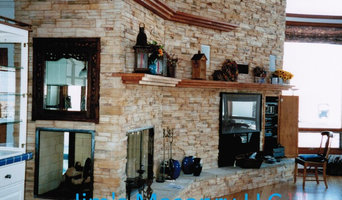 Fireplace with Stone Facade.