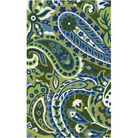 FaveDecor Indoor/Outdoor Brigham Lime Area Rug, 3'x5'