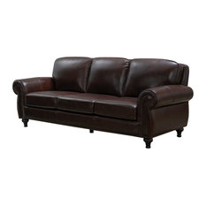 Hobson Leather Sofa, Brown