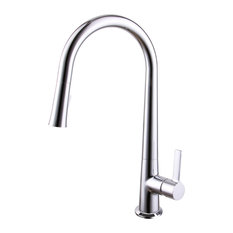 """Ucore 18"""" Single Handle Kitchen Faucet, Pull-Down Sprayer Faucet, Chrome"""