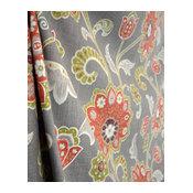 Ankara Mink Pkaufmann Floral Jacobean Grey Curtain Fabric