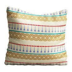 Boho Gold, Beige Pattern Throw Pillow Case