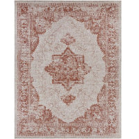 "Surya Eagean EAG-2301 Area Rug, Red/Gray, 7' 10"" x 10' 3"" Rectangle"