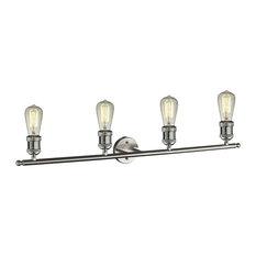 "Innovations 4-LT LED Bare Bulb 42"" Adj. Bathroom Fixture - Brushed Satin Nickel"