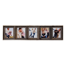 Collage Picture Frame With 5 Openings, Barn Wood, 8x10