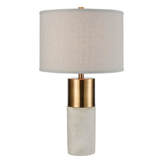Gale Table Lamp - Concrete with Gold
