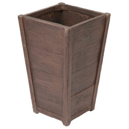Rustic Outdoor Pots And Planters by Winsome House Inc.