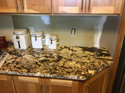 Busy Granite Countertops In Kitchen