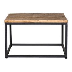 "Paris Mahogany Raw Mango Wood and Iron Square Coffee Table, 30"" by Kosas Home"