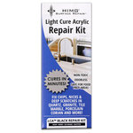 CeramiCure® HIMG® Surface Repair - Black LCA™ Surface Repair Kit - LCA™ Black is a light cure acrylic that cures black in minutes. (3-10 minutes depending on size of defect) An effective repair material for nicks, chips, scratches in granite, marble, tile porcelain, corian, travertine and natural stone surfaces.