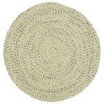 """Capel Rugs - Sea Pottery Braided Round Rug, Sandy Beach, 3' - Reversible and durable, Capel braids are a hallmark of American tradition. Features: Construction: Braided Country of Origin: USASpecifications: Pile Height: 3/8"""" - 1/2"""""""