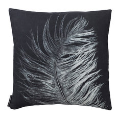 Feather Cushion, White, Square