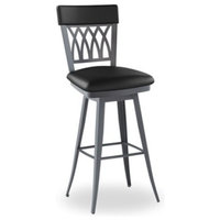 Amisco Oxford Swivel Stool, JH Blueberry, 30""