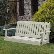 Lehigh Porch Swing, Whitewash, 4'
