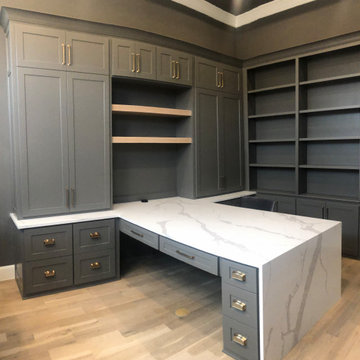Custom Home Office Studio in Southlake, TX - by Prime Design Cabinetry