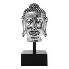 KARE Design - Deko Kopf Buddha Silver XL - Skulpturen