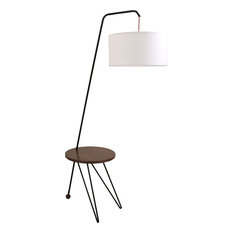 Lumi Source Stork Floor Lamp With Walnut Wood Table Accent