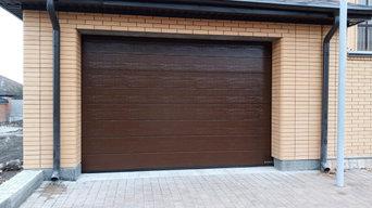 Немецкие гаражные секционные ворота Hormann 3000*2250 Поверхность Woodgrain M-го