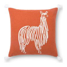 ED Ellen DeGeneres P4126 Lllama Decorative Throw Pillow, Down Fill