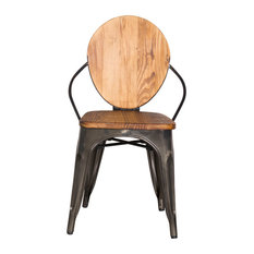 Manufacturer   Imports Metal Dining Chair, Walnut   Dining Chairs