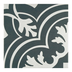 """7.75""""x7.75"""" Thirties Ceramic Floor and Wall Tile, Classic, Set of 25"""