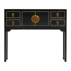 Qing Black and Gilt Console, Small