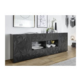 Prisma (grey) 2 door 4 drawer sideboard