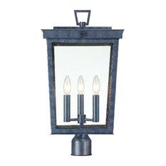 Belmont 3 Light Graphite Outdoor Lantern Post