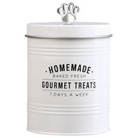 Amici Pet Gourmet Treats Round Metal Canister