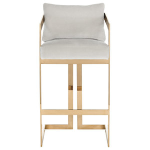 Gold Legs Leather Stool Midcentury Bar Stools And