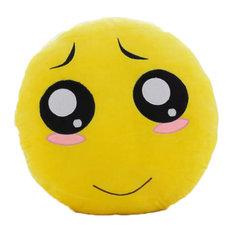 Stuffed Cute Emotion Face Design Hand Warmer Throw Pillow