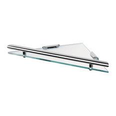 Triangular Clear Glass Bathroom Shelf