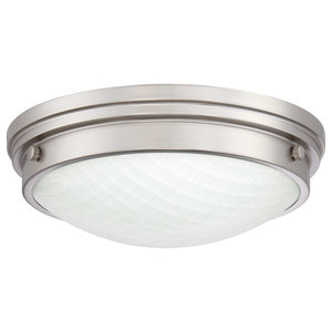 "Quoizel PRT1612 Port Single Light 12"" Wide Integrated LED Flush Mount Bowl Ceil"