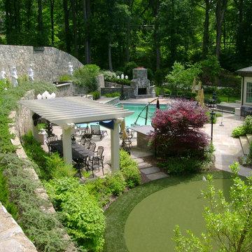 Landscape, Pool, & Sculpture Garden